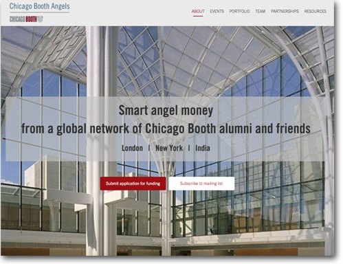 Snapshot of ChicagoBooth Angels Network platform