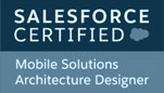 logo of Salesforce Mobile Solutions Architecture Designer Certificate