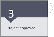 step 3, Project approved